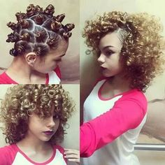 Picture of Curling Hair without Heat Bantu Knot