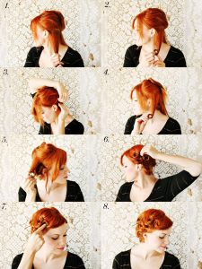Pin Curling Your Hair without Heat Photos