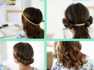 Pictures of Using Headband for Curl Your Hair without Heat