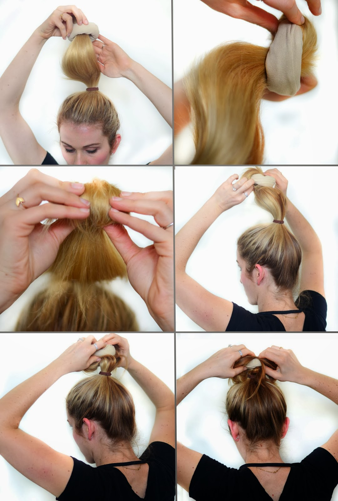 Oct 02,  · To do a sock bun with short hair, start by choosing a small sock that matches your hair color and cutting the toe portion off. Next, turn the sock inside-out and roll it up to the elastic. Then, add a little gel or dry shampoo to your hair for grip, pull it up into a .