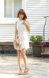 Knee High Lace Up Gladiator Sandals