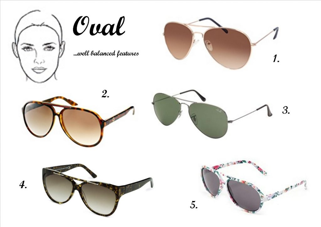 Sunglasses for Oval Face Images