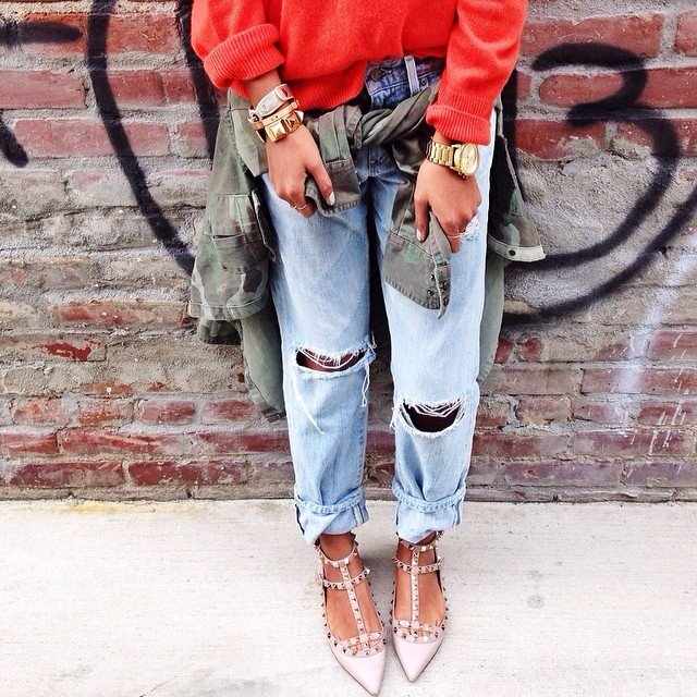 How to Cuff Boyfriend Jeans