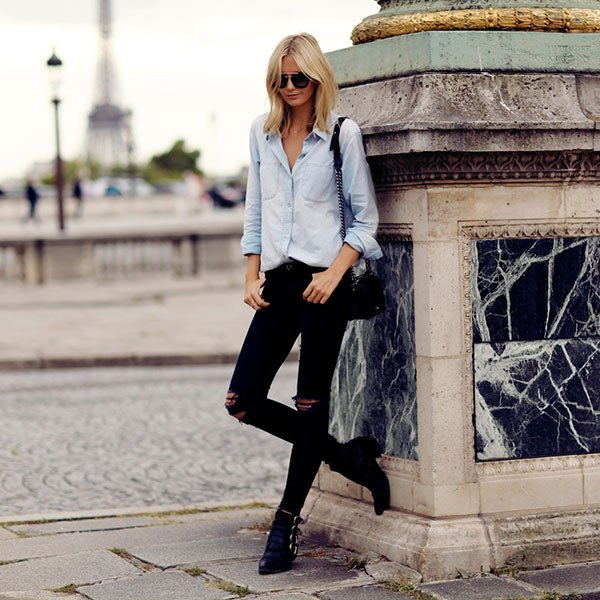 How to Roll Jeans with Booties
