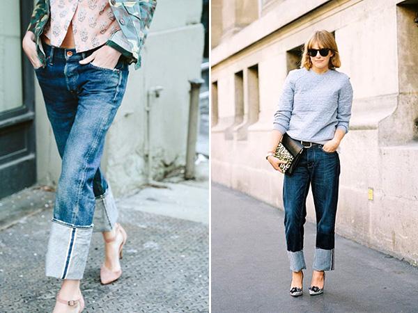 Wide Cuff Jeans