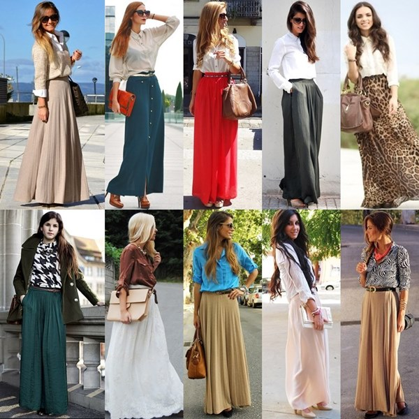 How to Wear a Maxi Skirt to Work