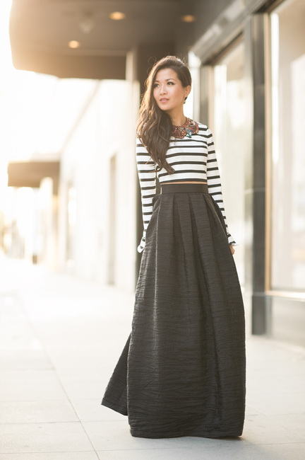 How to Wear a Maxi Skirt | Style Wile