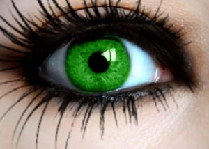 Neon Green Contact Lenses Brown Eyes