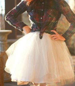 Tulle Skirt with Shirt