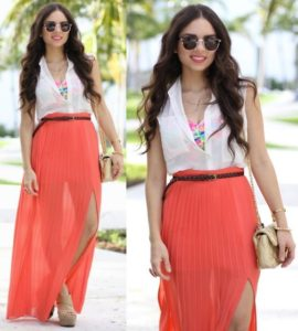 What do you Wear with a Maxi Skirt