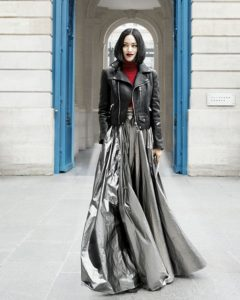 What to Wear with a Silver Maxi Skirt