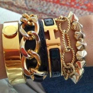 Stacked Gold Bracelets
