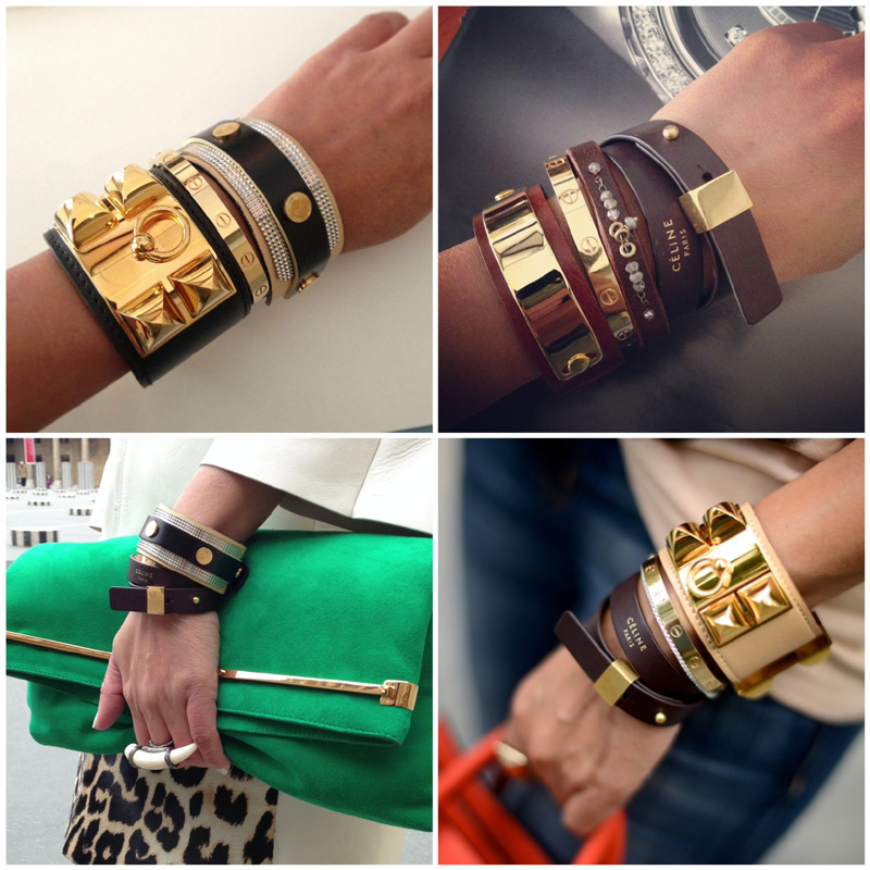 Stacked Leather Bracelets