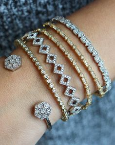 Stacking Diamond Bracelets