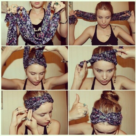 Headband Scarf Tutorial
