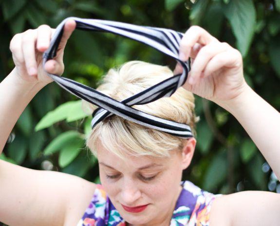 How to Make an Infinity Scarf Headband