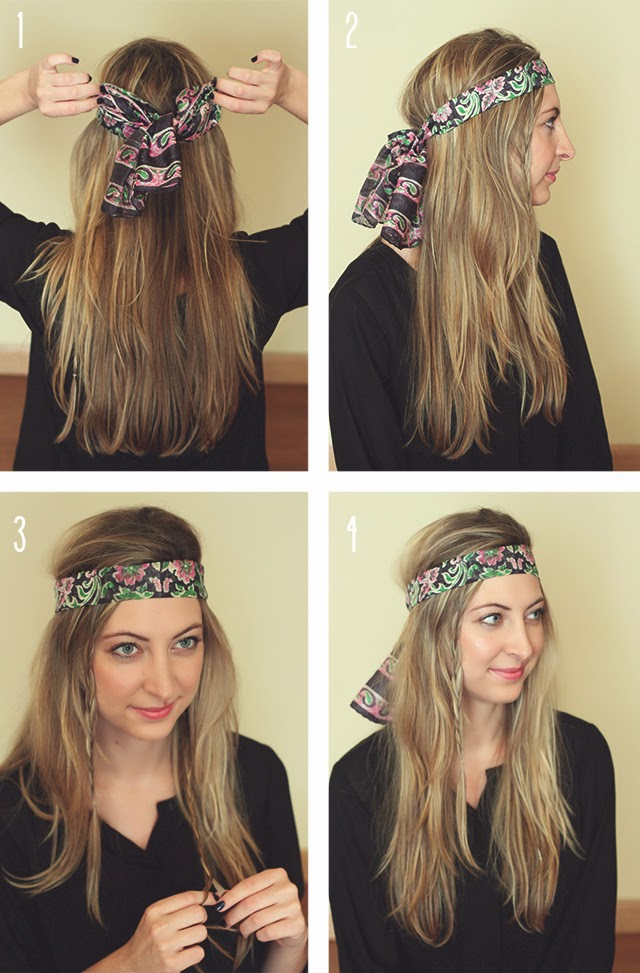 How to wear a scarf as a headband style wile how to tie a scarf as a headband ccuart Gallery