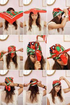How to Tie a Scarf into a Turban Headband