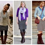 How to Wear Striped Pencil Skirt