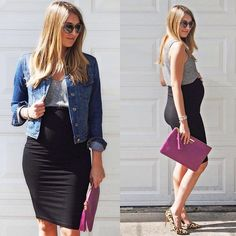 How to Wear a Maternity Pencil Skirt