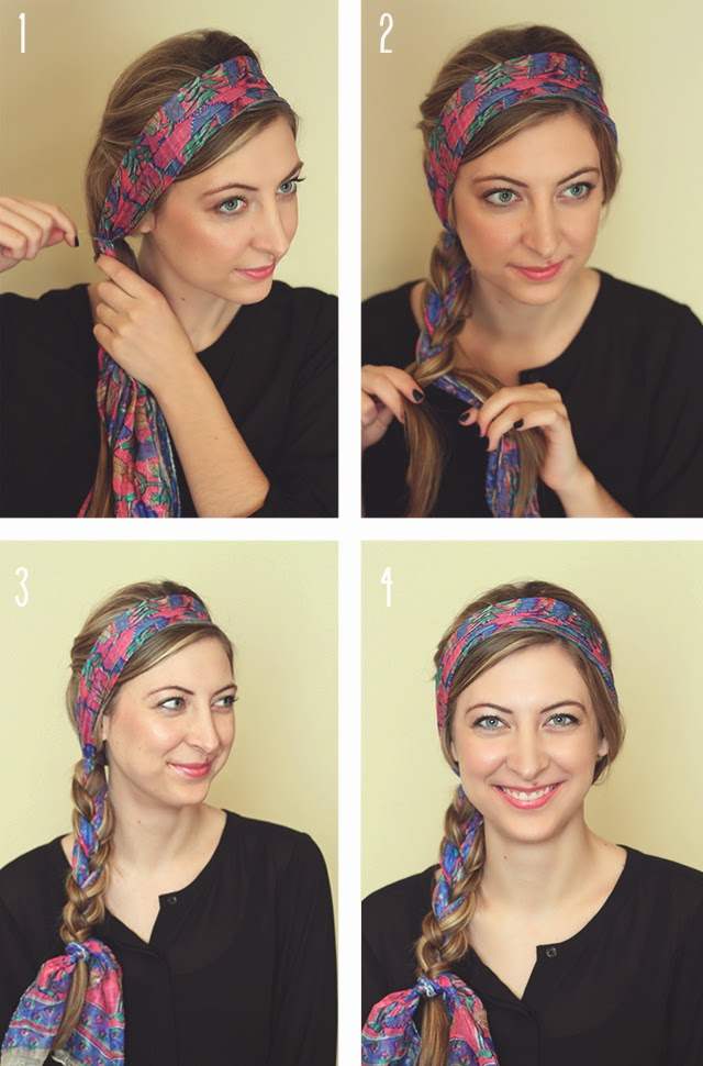 How to wear a scarf as a headband style wile scarf headband tutorial ccuart Gallery