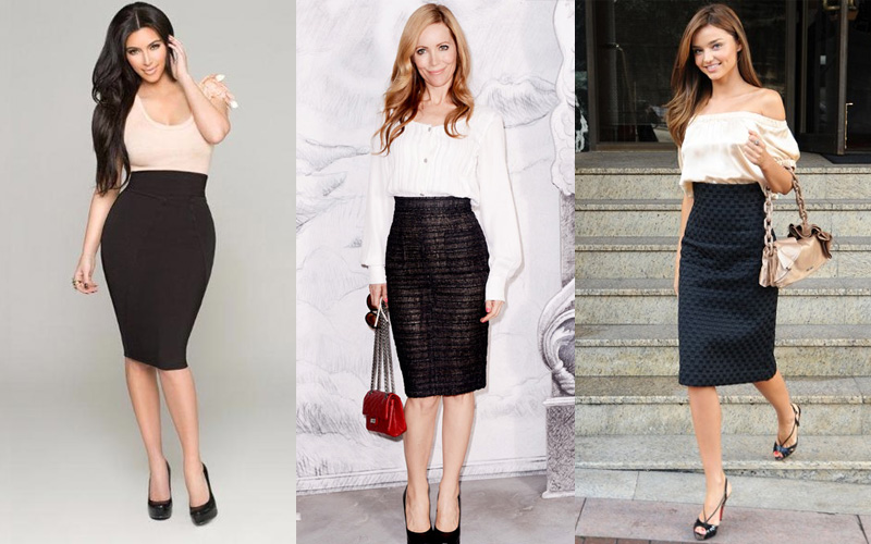 What to Wear with a Black Pencil Skirt
