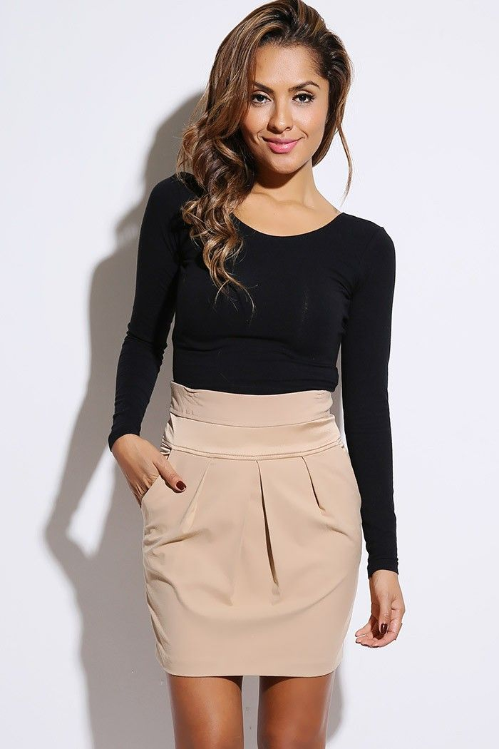 What to Wear with a Khaki Pencil Skirt