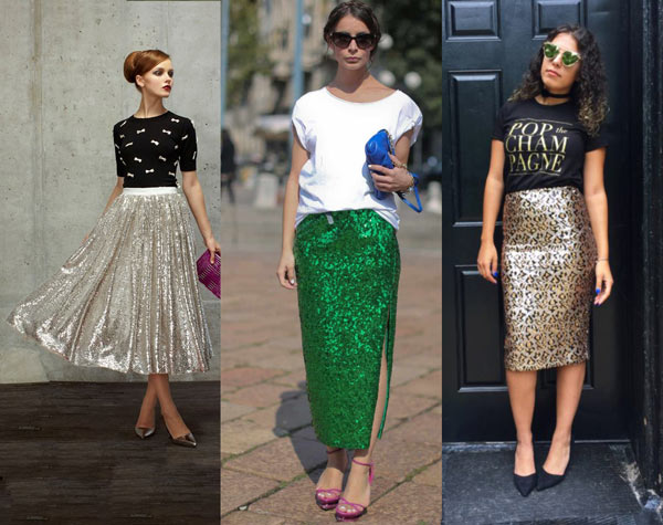 How to Wear Sequin Skirt