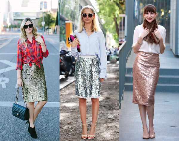 What Top to Wear with Sequin Skirt