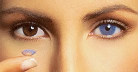 Natural Blue Colored Contacts For Brown Eyes