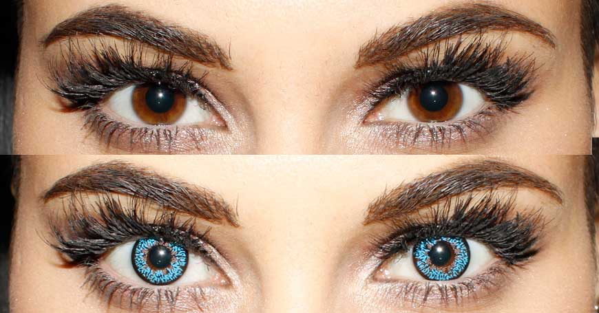 Blue Contacts for Brown Eyes