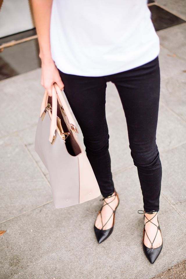 Leggings with Flat Shoes