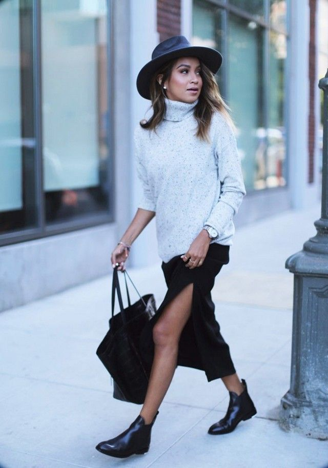 How to Wear Chelsea Boots with a Skirt