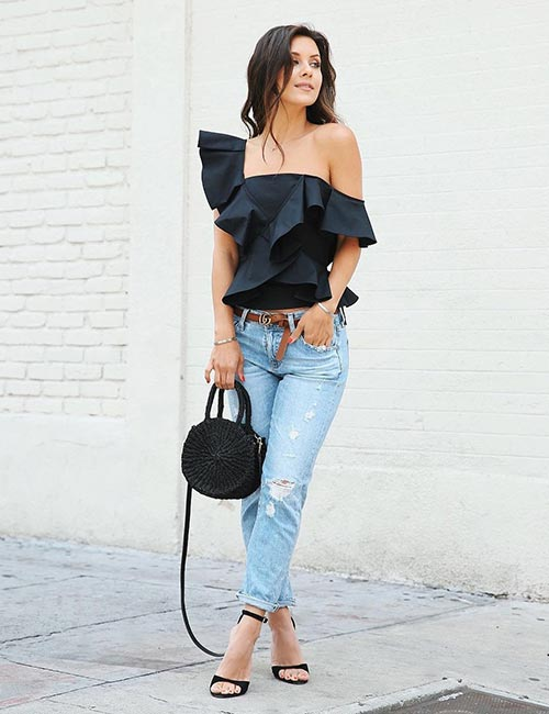 how to wear boyfriend jeans outfits style wile. Black Bedroom Furniture Sets. Home Design Ideas
