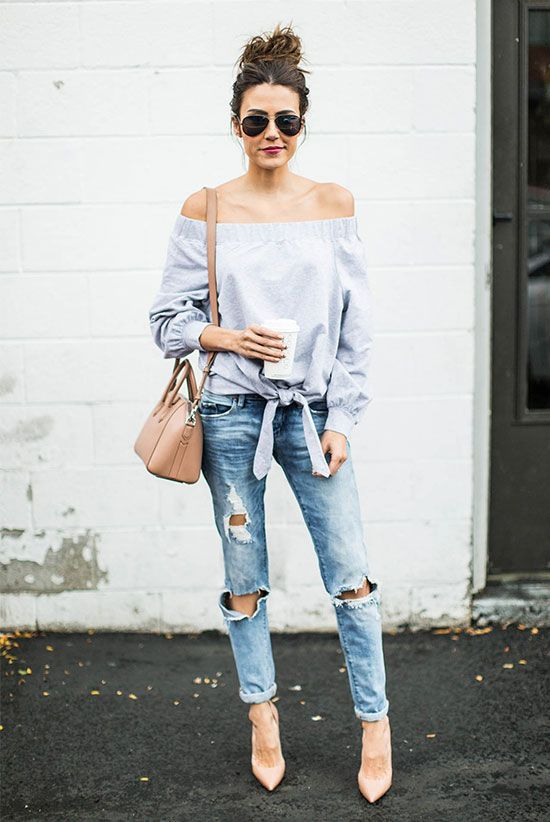 How to Wear Boyfriend Jeans Outfits