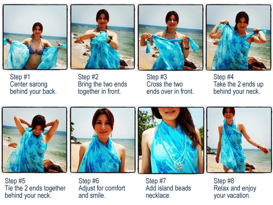 How to Tie a Sarong into a Halter Dress