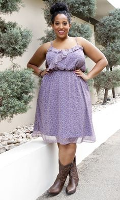 Plus Size Dresses to Wear with Cowboy Boots