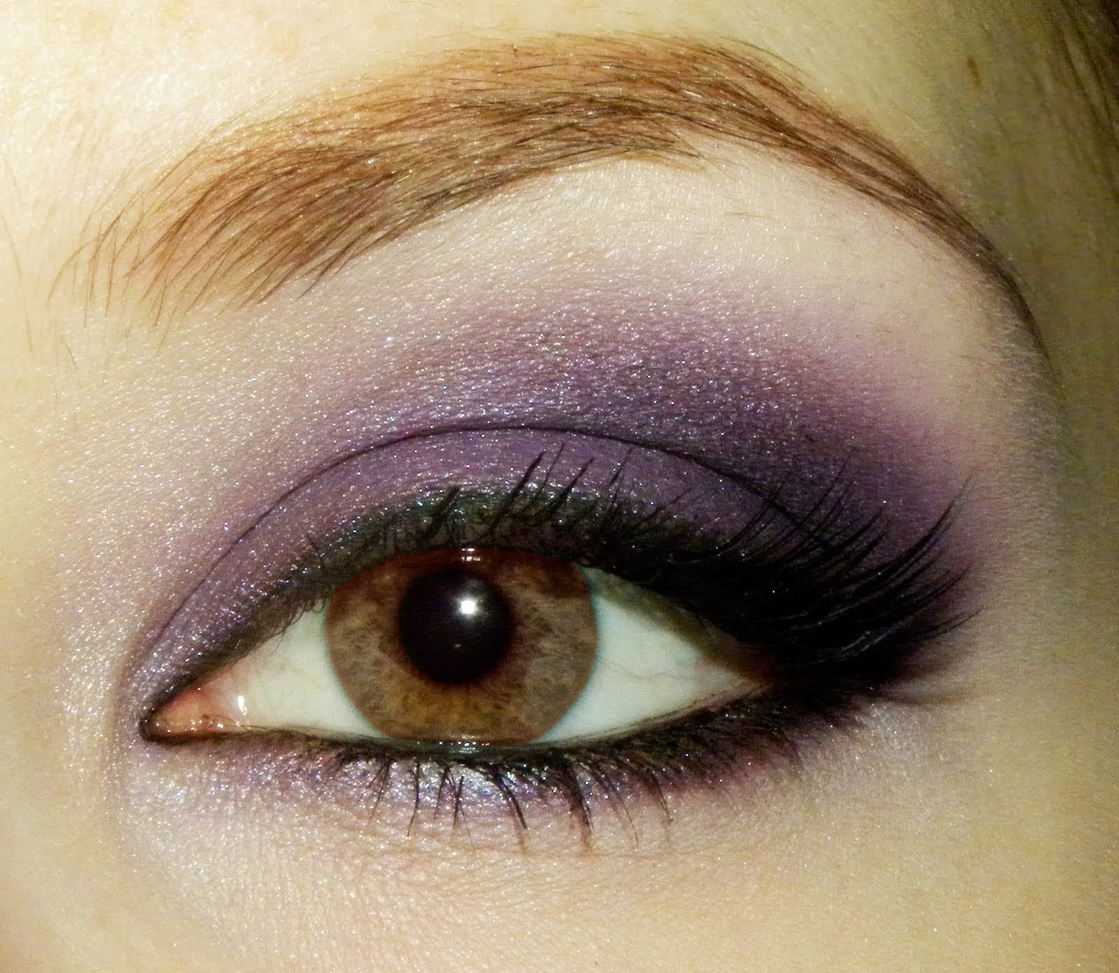 Purple Smokey Eye Makeup for Brown Eyes