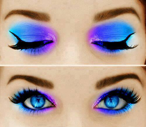 Purple Smokey Eye for Blue Eyes
