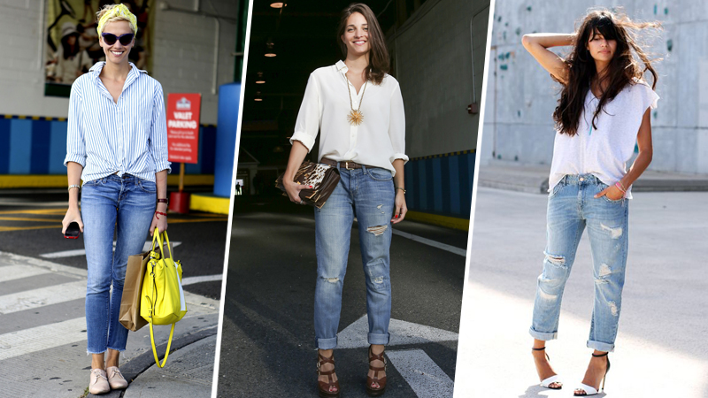 Shirts to Wear with Boyfriend Jeans