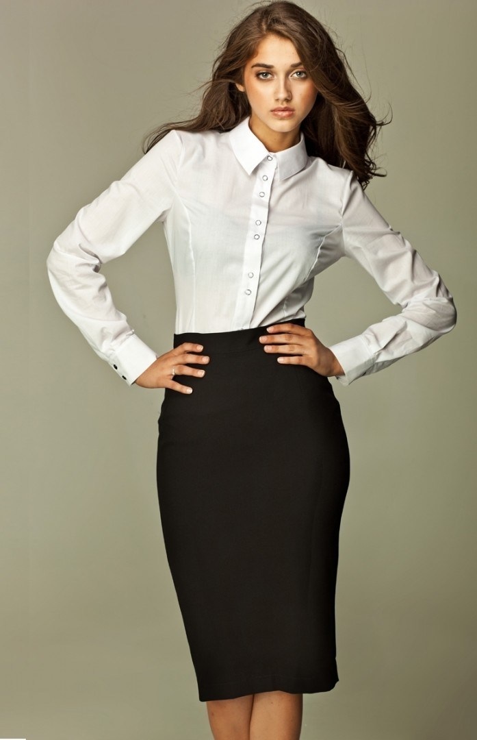 Black Pencil Skirt Interview Outfit