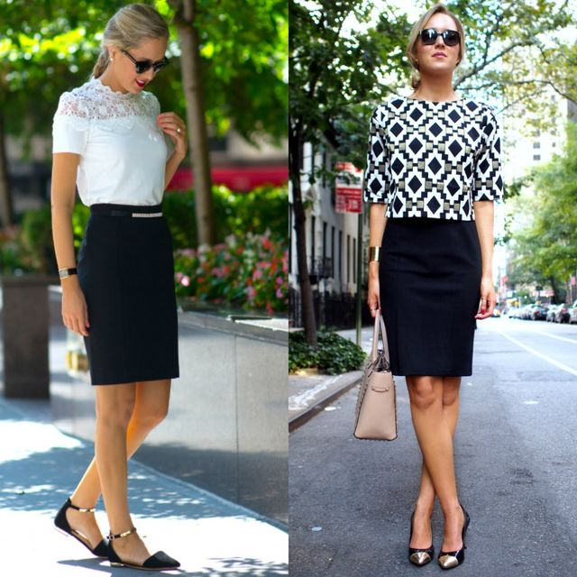 5 Outfit Ideas For Black Pencil Skirts | Style Wile