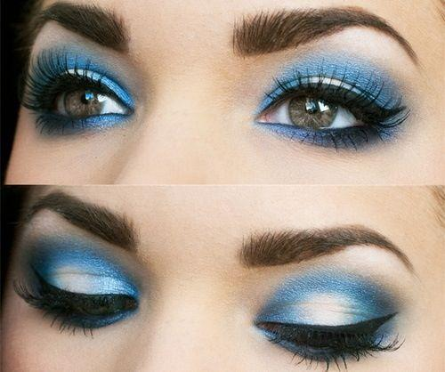Blue Silver Smokey Eye