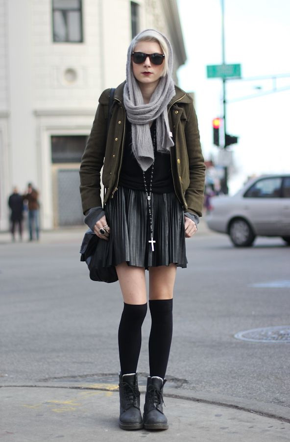Combat Boots with Skirts