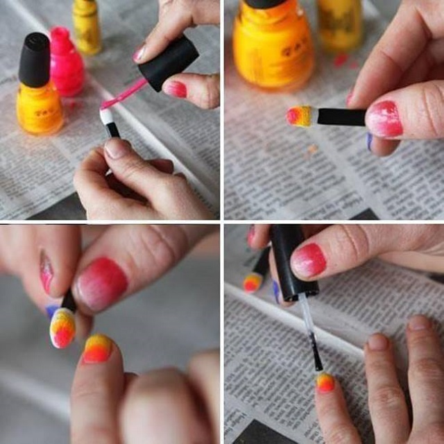 How To Do Ombré Nails Without Sponge