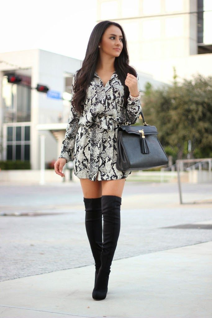 31f2cee0d559b Best Outfits to Wear with Thigh-High (Over-the-Knee) Boots