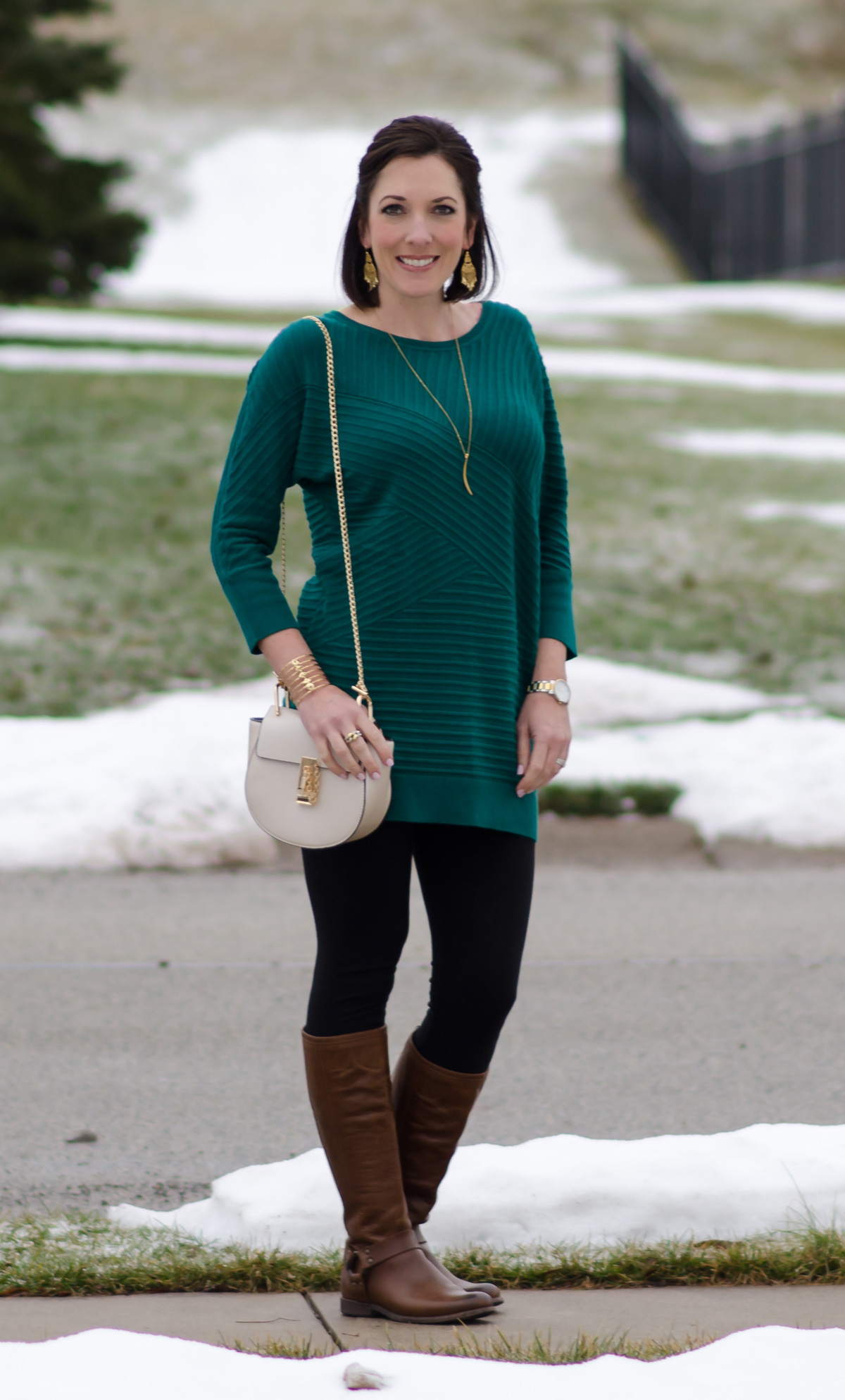 Over-the-Knee Boots with Leggings
