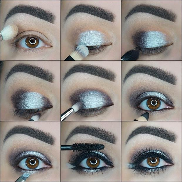 How To Do Silver Smokey Eye Makeup Stylewile