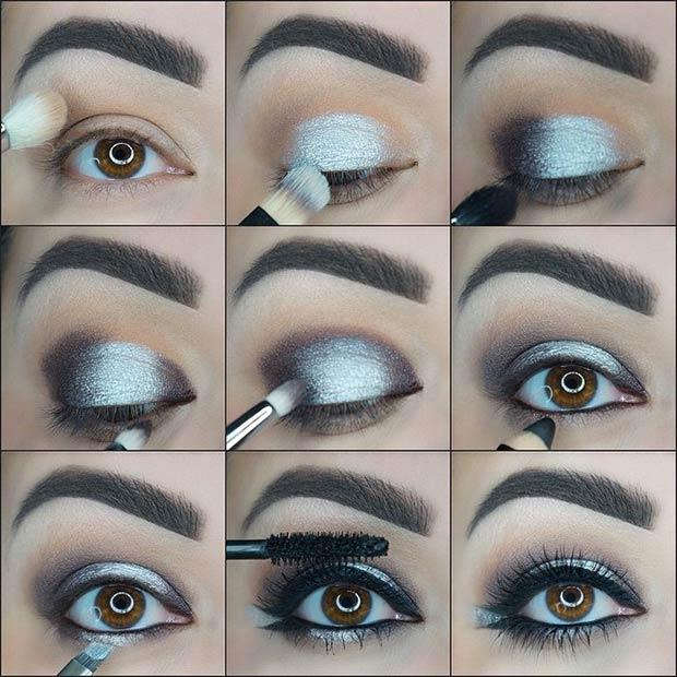 How To Do Silver Smokey Eye Makeup Style Wile