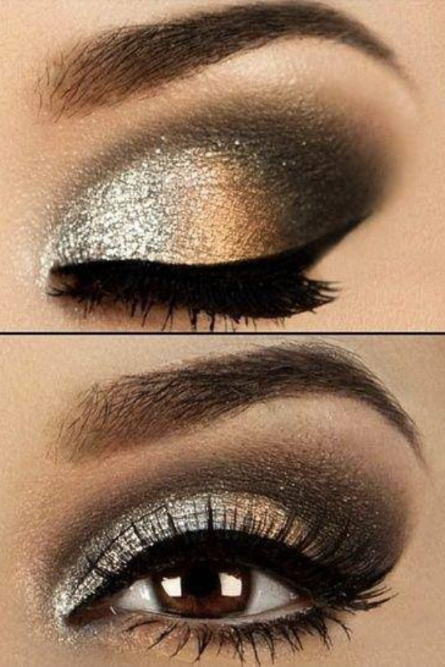 Silver and Gold Smokey Eye